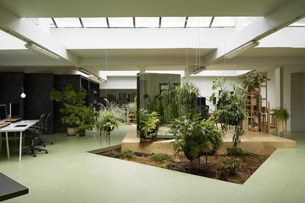 Thiết kế văn phòng xanh giúp nhân viên có nơi thư giãn