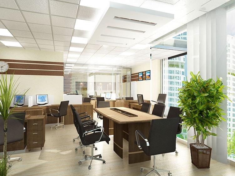 Văn phòng phải đảm bảo ánh sáng tốt