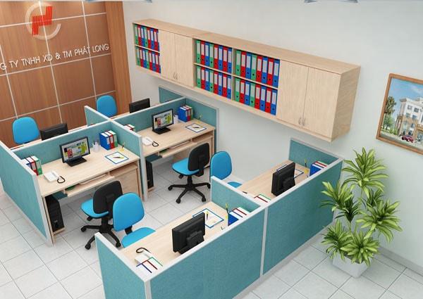 Dùng vách ngăn cho văn phòng nhỏ