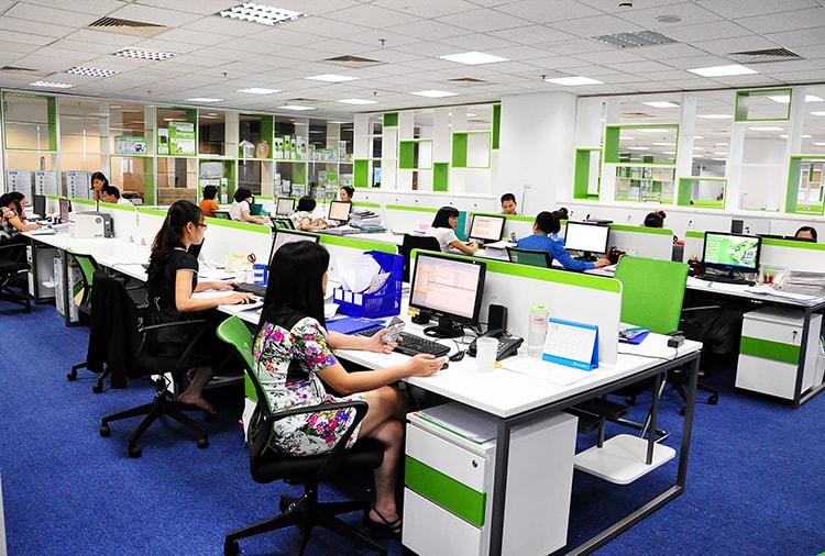 Màu sắc nội thất văn phòng phải phù hợp với tính chất công việc