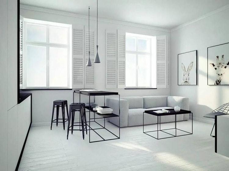 Thiết kế văn phòng phong cách tối giản sử dụng nội thất tinh tế
