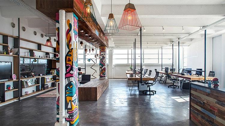 Văn phòng phong cách công nghiệp được thiết kế theo hướng mở