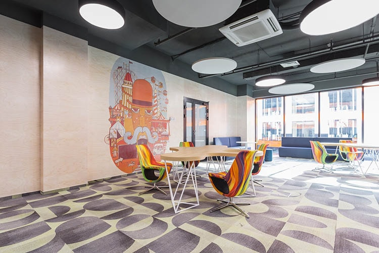 Văn phòng phong cách vui nhộn có nội thất thiết kế độc đáo