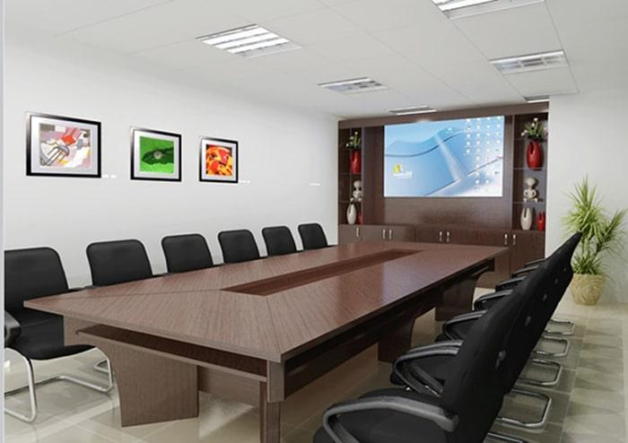 Thiết kế phòng họp đẹp theo phong cách đơn giản mà thời thượng