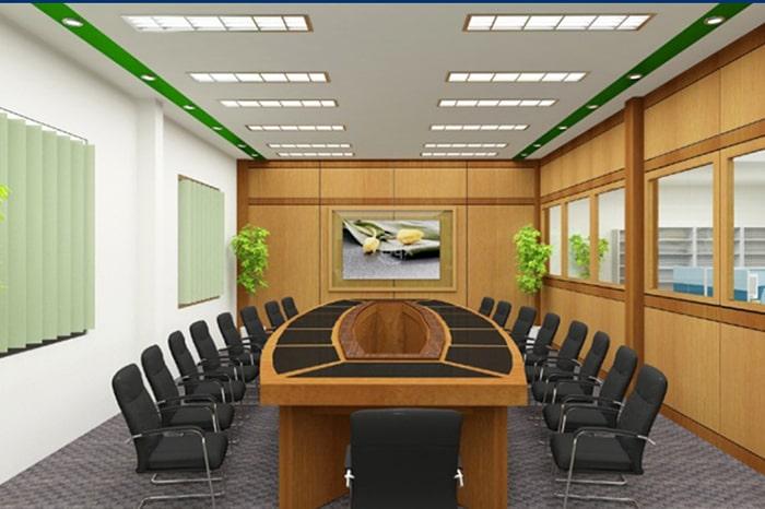 Thiết kế phòng họp với bàn hình chữ U