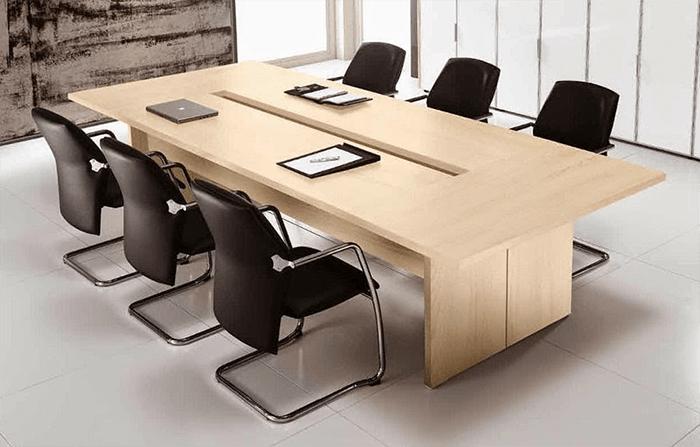 Thiết kế phòng hội thảo với bàn dài