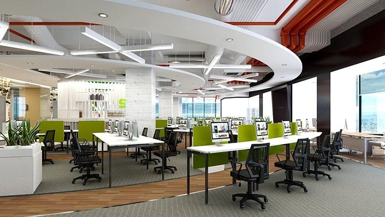 Lựa chọn thiết kế văn phòng 60m2 theo phong cách chuyên nghiệp