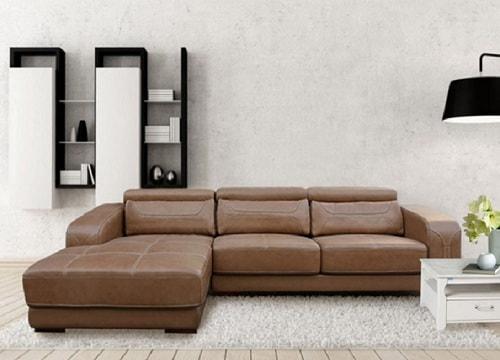 Bộ sofa góc bọc da Hòa Phát SF107A-4