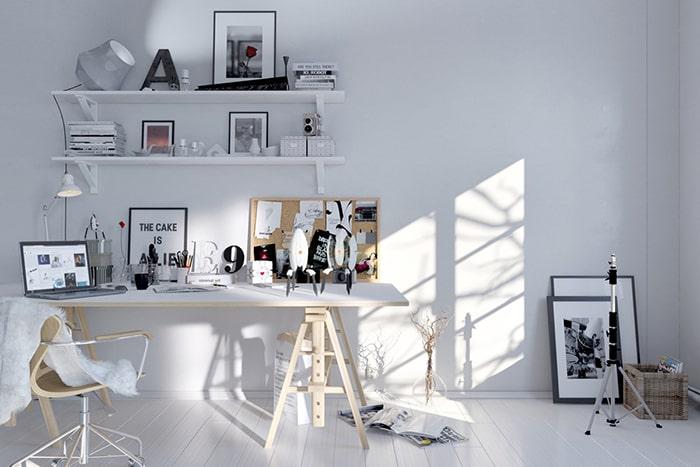 Thiết kế phòng làm việc đơn giản đem lại sự thoải mái cho người ngồi