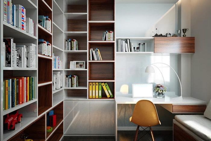 Bạn có thể chọn bất cứ không gian nào trong nhà để làm phòng làm việc của mình
