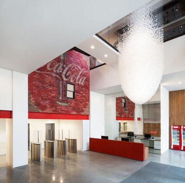 Một không gian văn phòng làm việc của Coca Cola