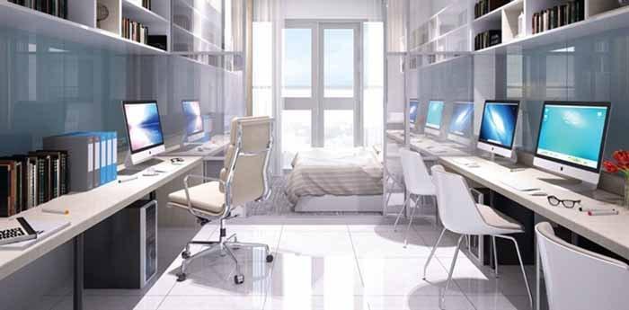 Thiết kế nội thất nhà ở kết hợp văn phòng