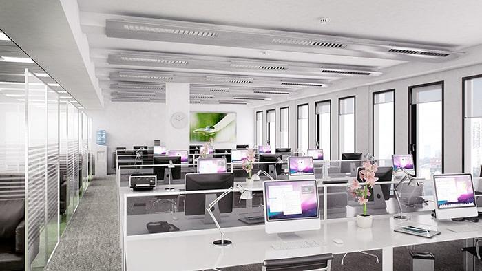 Văn phòng thiết kế màu trắng