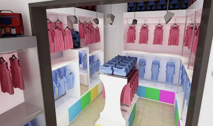 Chú ý về màu sắc trong thiết kế nội thất shop quần áo trẻ em