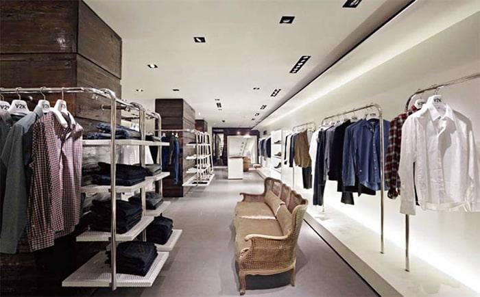 Sử dụng màu sắc hợp lý cho shop thời trang diện tích hẹp