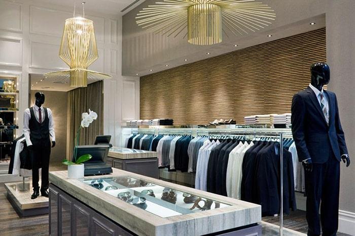 Phong cách thiết kế shop thời trang nam
