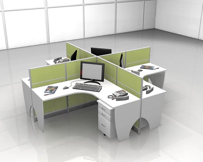 Sử dụng thiết kế bàn cụm đang rất phổ biến trong các doanh nghiệp