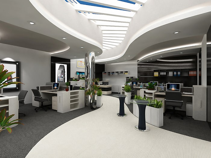 Thiết kế mảng khối cho văn phòng