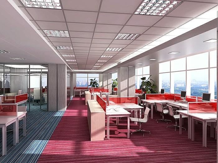 Thiết kế màu sắc tươi tắn cho văn phòng