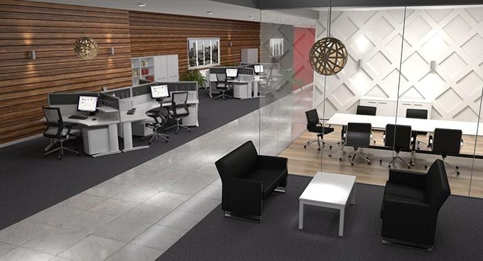 Mẫu thiết kế cho văn phòng phân khu