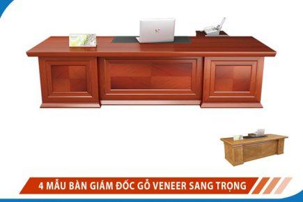 4 Mẫu Bàn Giám đốc Gỗ Veneer Sang Trọng đẳng Cấp